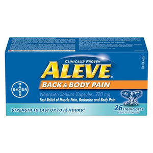 Aleve Back & Body Pain Naproxen Sodium Liquid Gels