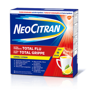 NeoCitran Total Flu Ultra Strength Non-Drowsy 10 Single Dose Pouches