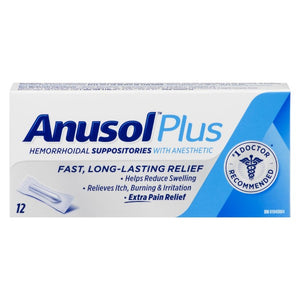 Anusol Plus Hemorrhoidal Suppositories with Anesthetic