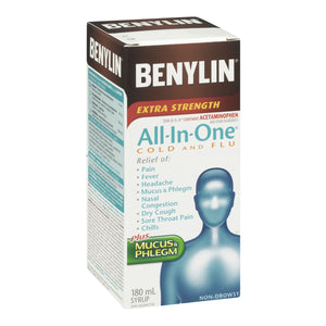 Benylin All-In-One Cold And Flu Extra Strength Plus Mucus & Phlegm