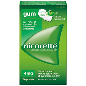 Nicorette Gum 4mg Fresh Mint 30 Pieces