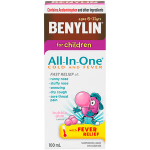 Benylin For Children All-In-One Cold and Fever 100mL