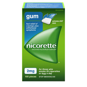 Nicorette Gum 2mg Extreme Chill Mint 105 Pieces