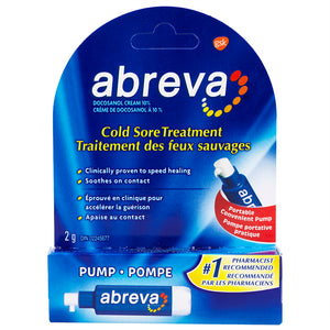 Abreva Cold Sore Treatment Pump 2g