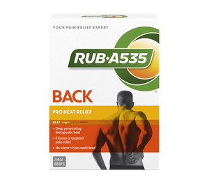 Rub-A535 2 Heat Wraps for Back & Hip