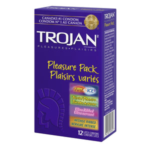 Trojan Pleasure Pack 12 Latex Condoms