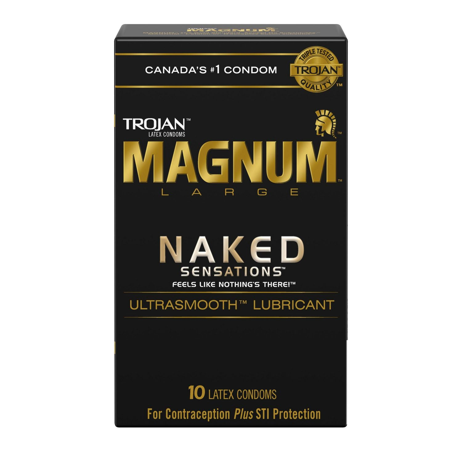 Trojan Magnum Large Naked Sensations 10 Latex Condoms