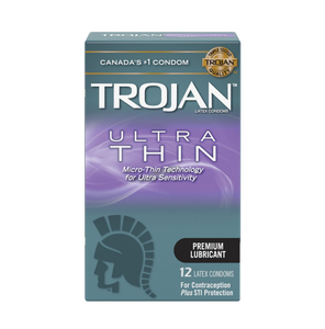 Trojan Ultra Thin 12 Latex Condoms