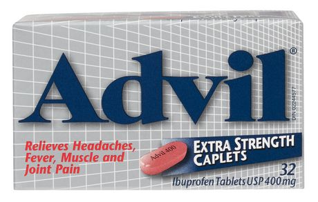 Advil 400mg Extra Strength  Ibuprofen Caplets