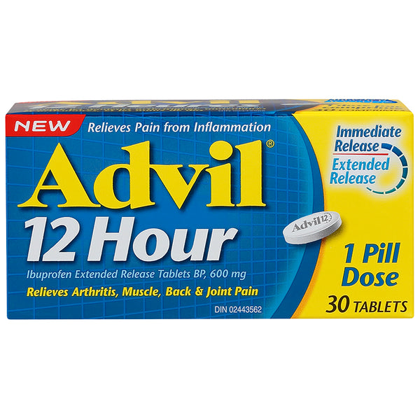 Advil 12 Hour 600mg Extended Release Tablets