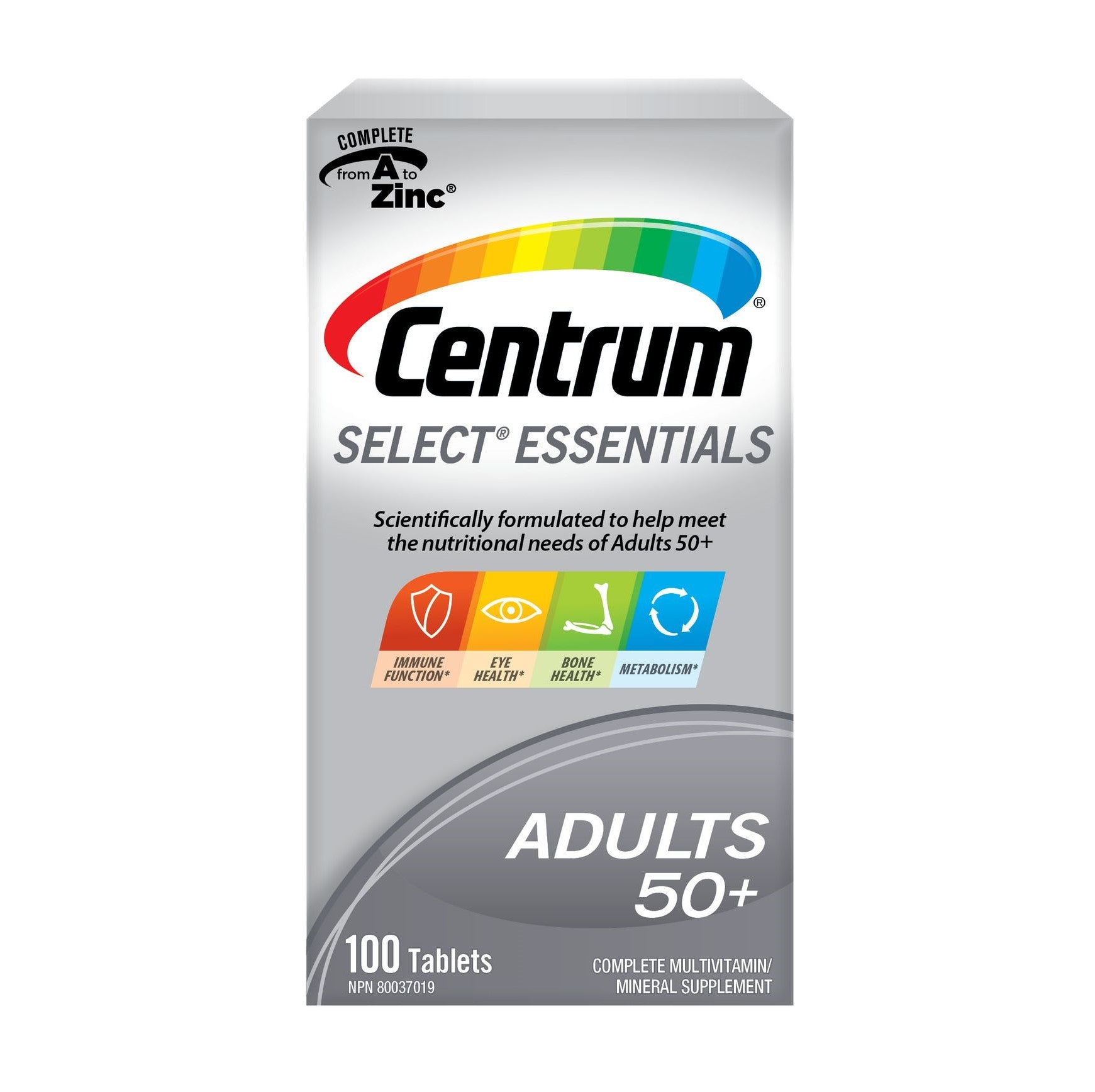 Centrum Select Essentials Adults 50+ Multivitamin 100 Tablets