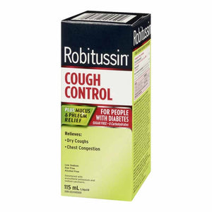 Robitussin Cough Control Plus Mucus & Phlegm Relief For People with Diabetes 115mL