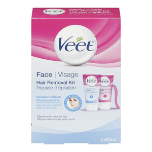 Veet Face Hair Removal Kit 2x50mL