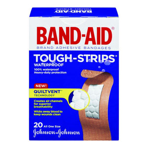 Band-Aid Tough Strips Waterproof 20