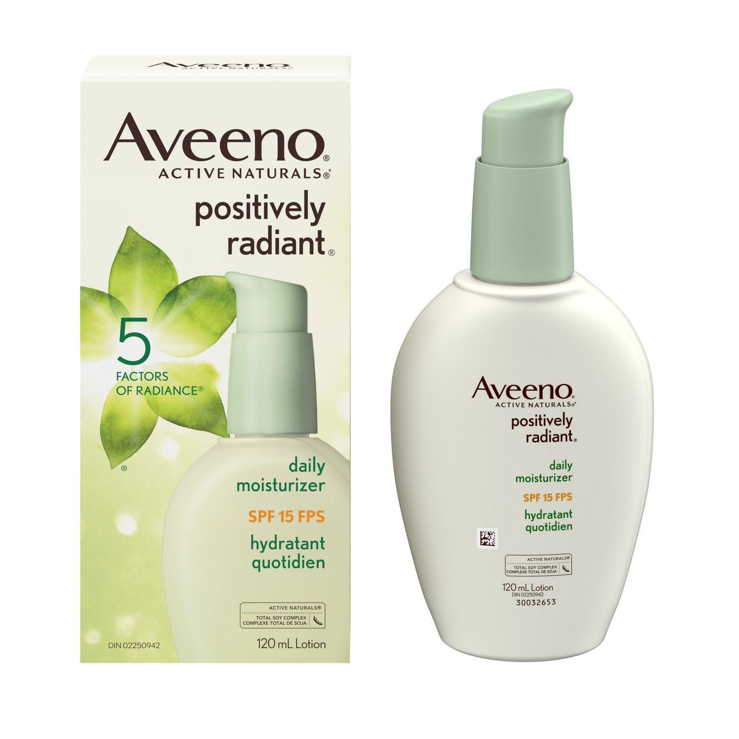 Aveeno Active Naturals Positively Radiant Daily Moisturizer SPF 15 120mL