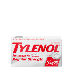Tylenol Regular Strength 100 Tablets