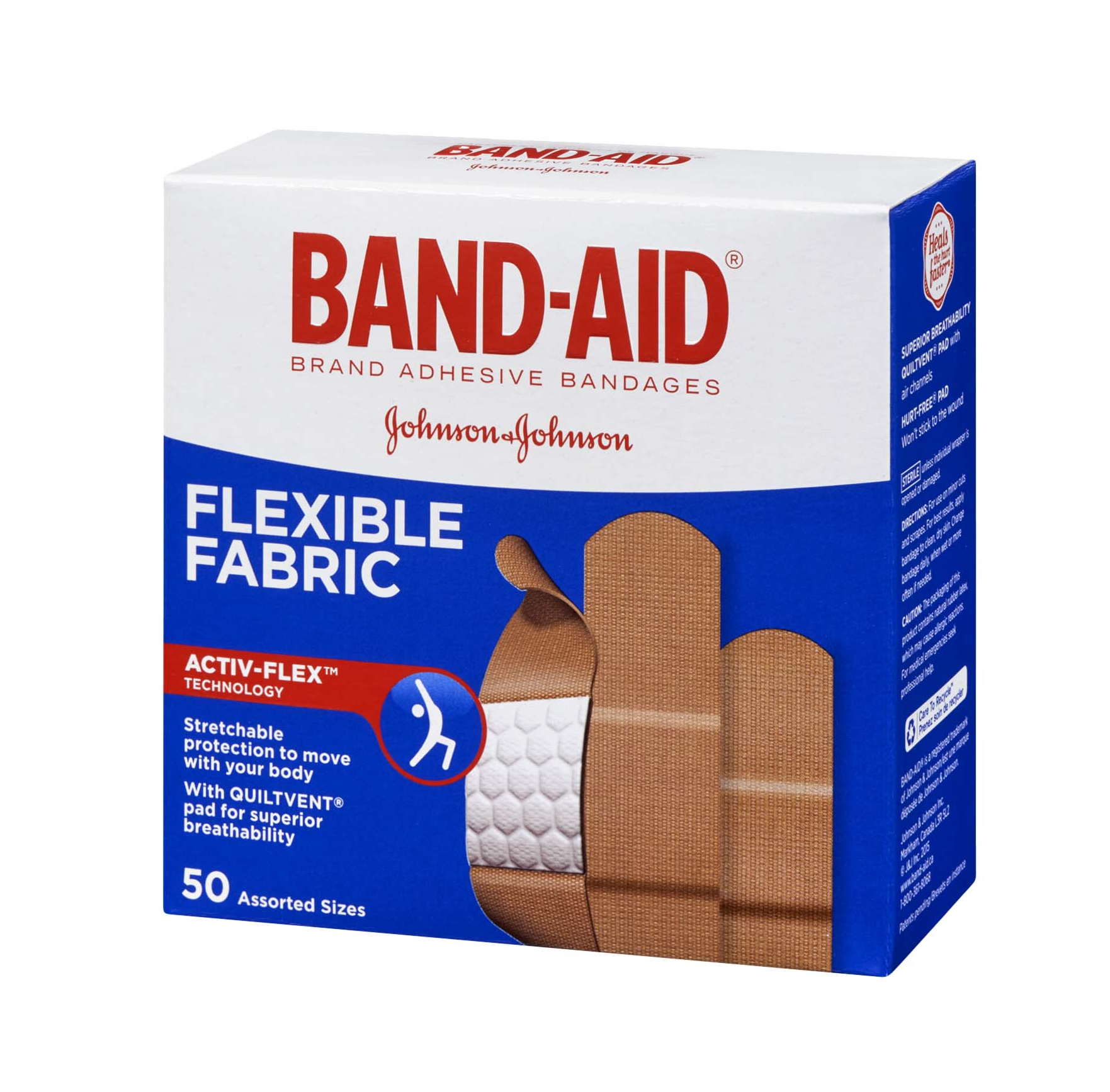 Band-Aid Flexible Fabric Assorted Sizes 50