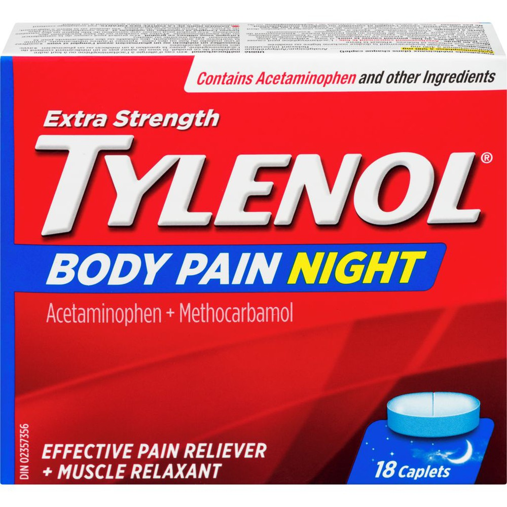 Tylenol Extra Strength Body Pain Night Caplets