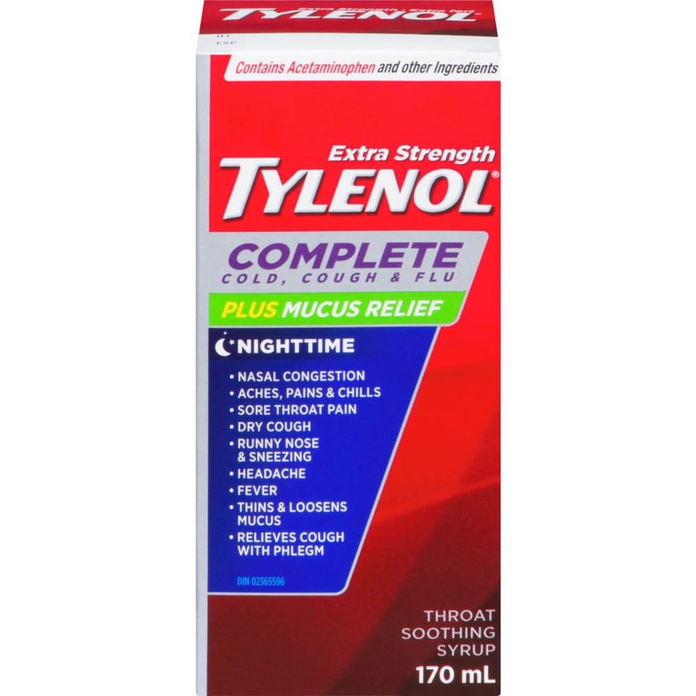 Tylenol Complete Cold, Cough & Flu Plus Mucus Relief Extra Strength Nighttime