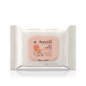 Aveeno Active Naturals Ultra-Calming Sensitive Skin Make-Up Removing Wipes 25