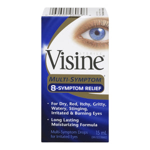 Visine Multi-Symptom 8-Symptom Relief Drops 15mL