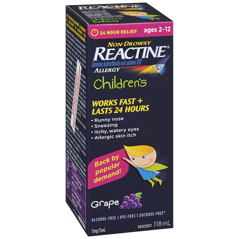 Reactine Allergy Children's Grape Flavour 118mL