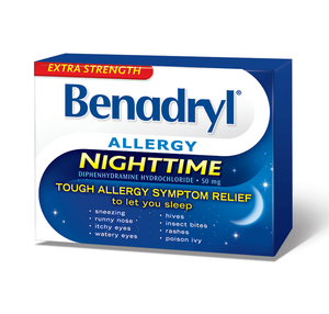 Benadryl Allergy Nighttime 24 Caplets