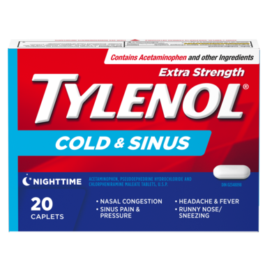 Tylenol Extra Strength Cold & Sinus Nighttime 20 Caplets