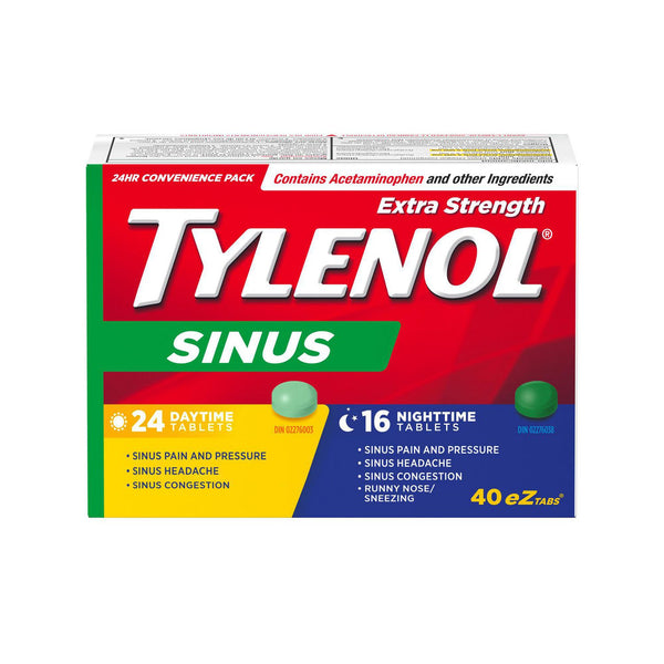 Tylenol Sinus 24 Hour Convenience Pack Extra Strength EZTabs