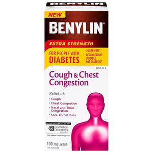 Benylin Cough & Chest Congestion Extra Strength For People With Diabetes 100mL