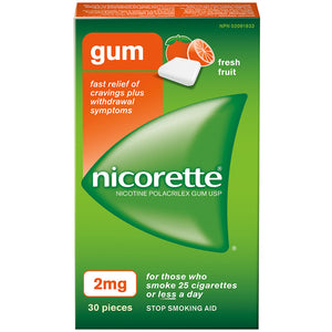 Nicorette Gum 2mg Fresh Fruit