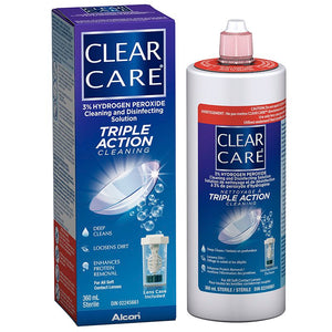 Clear Care Cleaning and Disinfecting Solution Triple Cleaning Action