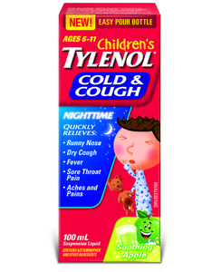 Children's Tylenol Cold & Cough Nighttime Soothing Apple 100mL