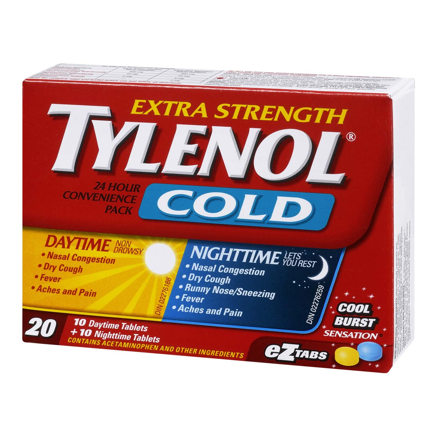 Tylenol Cold 24 Hours Convenience Pack Extra Strength EZTabs