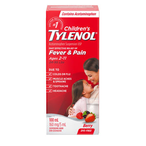 Children's Tylenol Fever & Pain Dye Free Berry Flavour 100mL