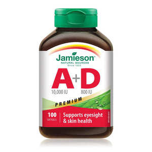 Jamieson Vitamin A+D 100 Softgels