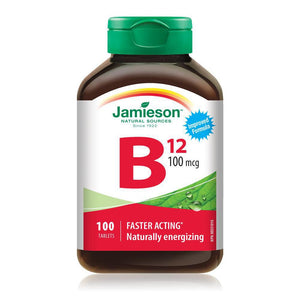 Jamieson Vitamin B12 100mcg 100 Tablets