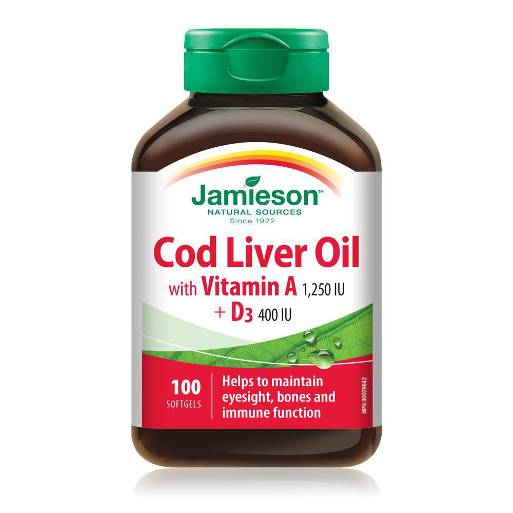 Jamieson Cod Liver Oil 100 Softgels