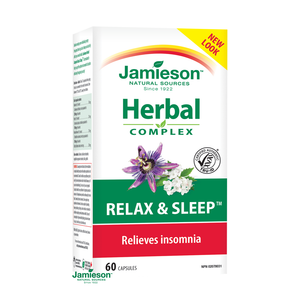 Jamieson Herbal Complex Relax & Sleep 60 Capsules