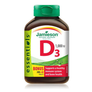 Jamieson Vitamin D 1000IU 200+ 40 Tablets
