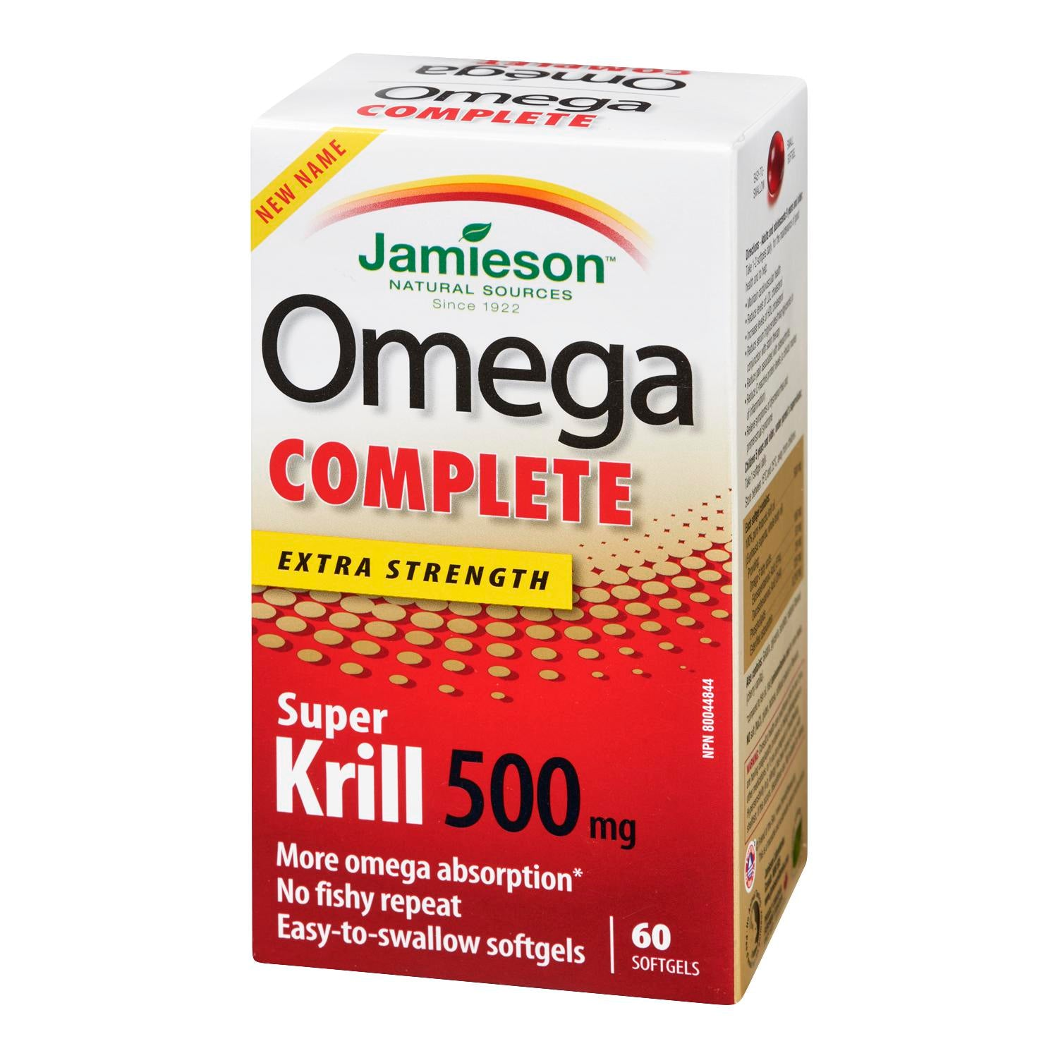 Jamieson Omega Complete Super Krill 500mg 60 Softgels