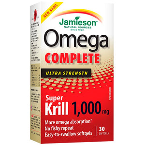 Jamieson Omega Complete Pure Krill Oil 1000mg 30 Softgels