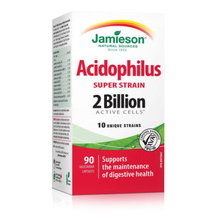 Jamieson Acidophilus Super Strain 2 Billion Active Cells 90 Vegetarian Capsules