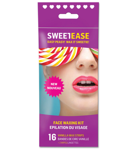 Sweetease Face Waxing Kit 16 Vanilla Wax Strips