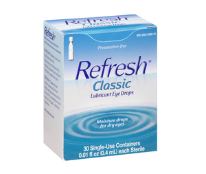 Refresh Lubricant Eye Drops 30 x 0.4mL Single-Use Containers