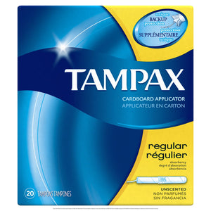 Tampax Cardboard Applicator Unscented Tampons