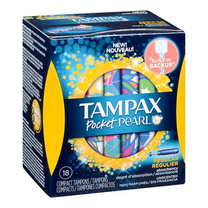 Tampax Pocket Pearl Unscented Compact Tampons