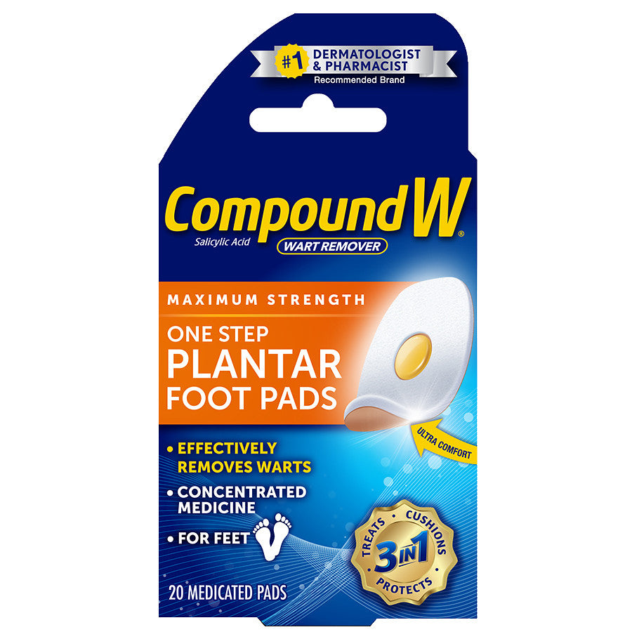 Compound W Maximum Strength One Step Plantar Foot Pads 20
