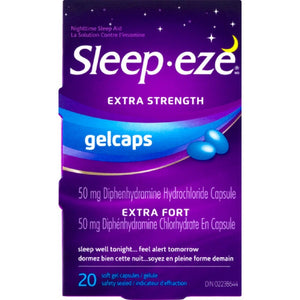 Sleep-eze Extra Strength Gelcaps 20 Soft Gel Capsules