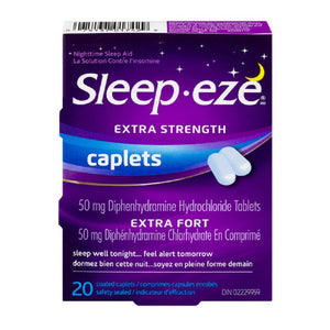 Sleep-eze Extra Strength Caplets 20 Caplets